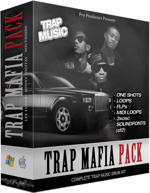 Product picture Trap 808 Mafia Pack - Lex Luger - Sonny Digital - Southside